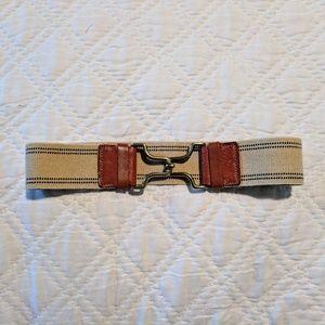 Madewell 1937 Canvas/Leather Elastic Belt